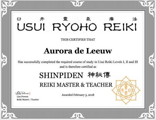 Reiki Master level - Shinpiden